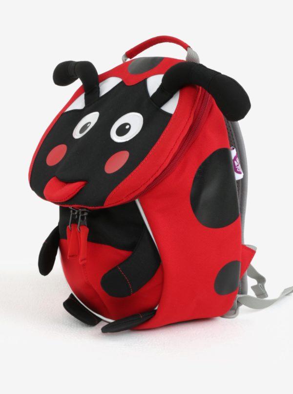 Čierno-červený batoh v tvare lienky Affenzahn 4 l