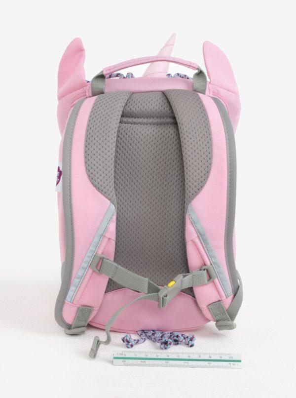 Ružový batoh v tvare jednorožca Affenzahn 4 l