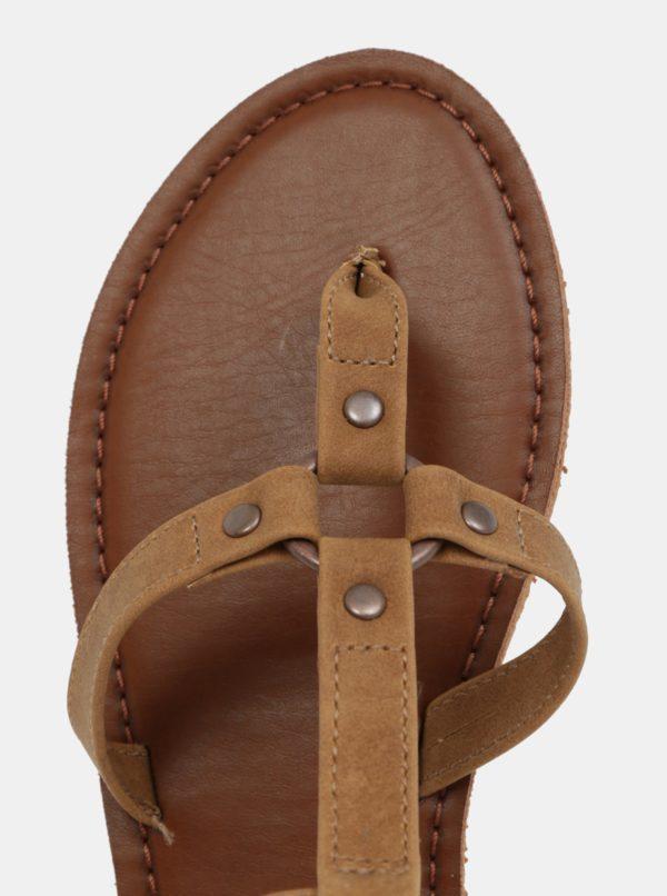 Hnedé dámske sandále Roxy Soria