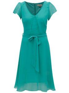 Zelené šaty s véčkovým výstrihom Billie & Blossom