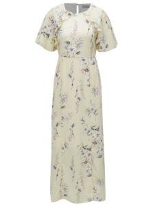 Svetložlté kvetované maxišaty Dorothy Perkins Petite