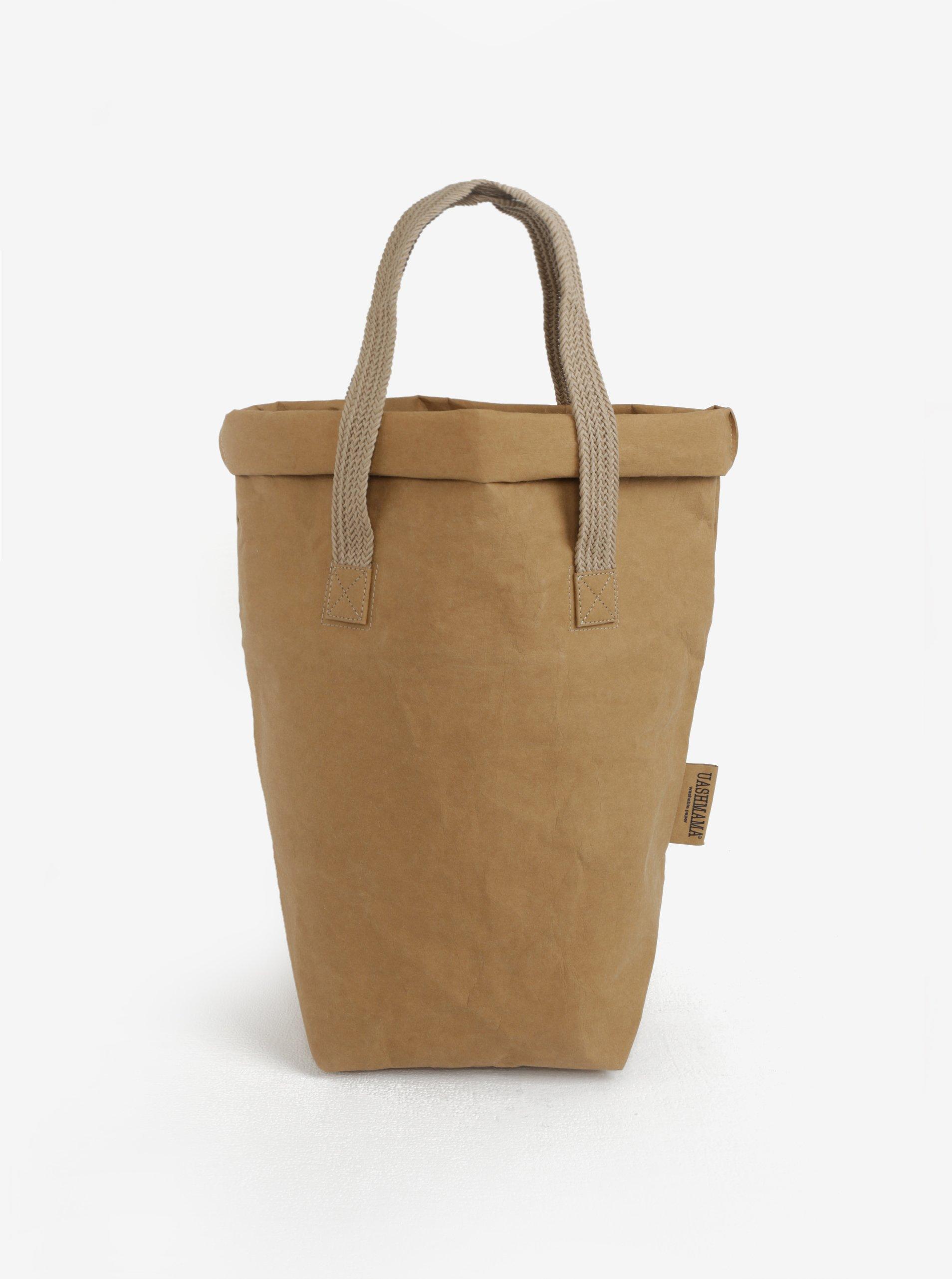 138024eec3 Svetlohnedá veľká taška do ruky UASHMAMA® Carry two