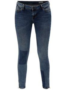 Modré dámske skrátené super skinny rifle Cross Jeans