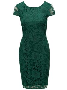 Zelené čipkové puzdrové šaty Dorothy Perkins