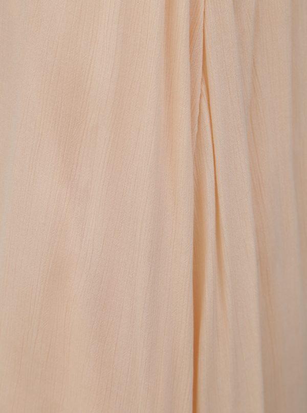 Svetloružové šaty s tenkými ramienkami Roxy Great Intentions
