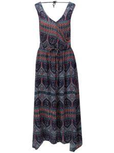 Tmavomodré vzorované šaty Roxy Evolution Dreame