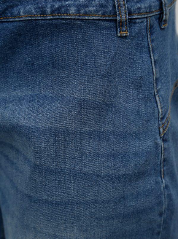 Modré rifľové regular fit kraťasy Zizzi