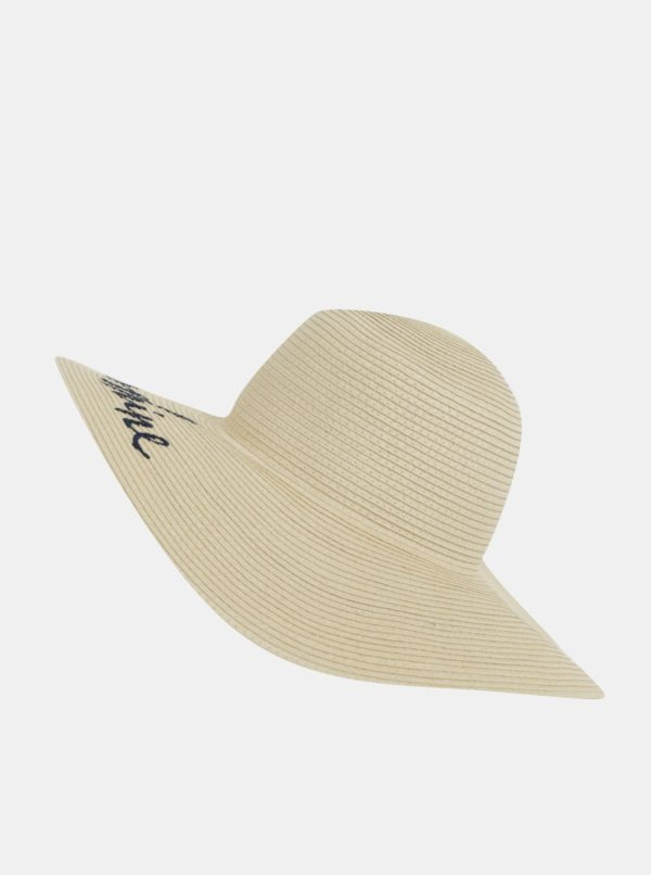 Béžový dámsky klobúk s výšivkou Tom Joule