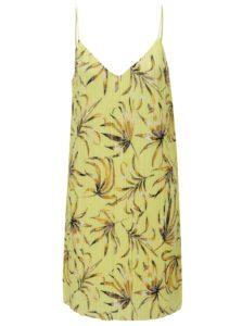 Žlté kvetované plisované šaty VILA Solana