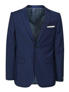 Tmavomodré oblekové skinny sako Burton Menswear London