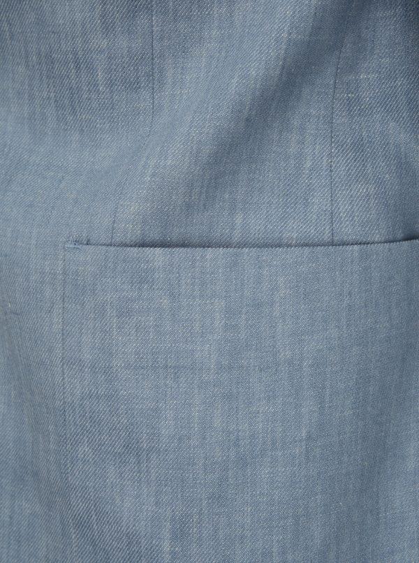Svetlomodré ľanové melírované sako Burton Menswear London