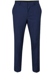 Tmavomodré oblekové skinny fit nohavice Burton Menswear London
