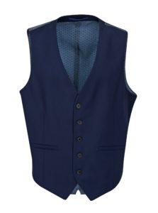 Tmavomodrá obleková skinny vesta Burton Menswear London