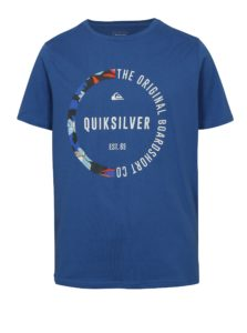 Modré chlapčenské regular fit tričko s potlačou Quiksilver