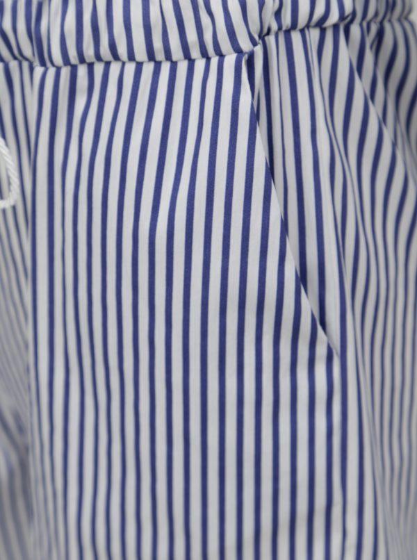 Bielo-modrý pruhovaný overal s odhalenými ramenami  Fornarina Melva