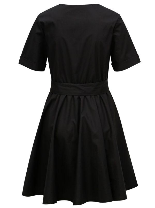 Čierne šaty s opaskom Fornarina Candy