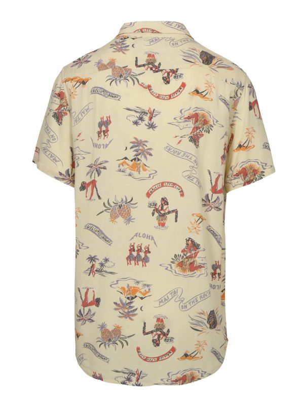 Béžová pánska vzorovaná tall fit košeľa Quiksilver