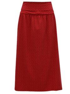 Červená vzorovaná maxisukňa / šaty Tranquillo Viola