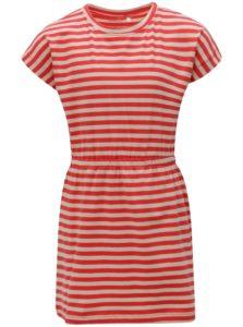 Béžovo-červené dievčenské pruhované šaty name it Pinja