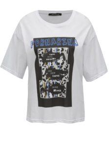 Biele tričko s potlačou Fornarina Amber 1