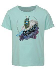 Mentolové chlapčenské regular fit tričko s potlačou Quiksilver