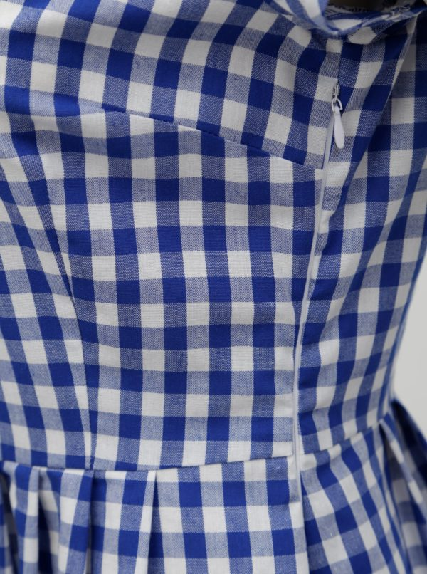 ac84df9097d5 Tmavomodré kockované košeľové šaty Bohemian Tailors Eldora