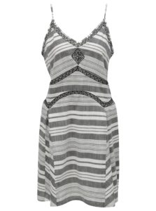 Bielo–sivé vzorované šaty Rip Curl