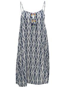 Bielo–modré vzorované šaty Rip Curl