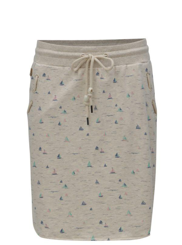Béžová vzorovaná sukňa Ragwear Patty