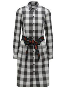 Sivé kockované košeľové šaty Bohemian Tailors Edita