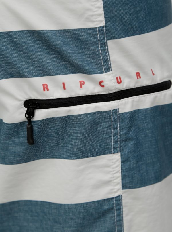 Bielo–zelené pánske pruhované plavky Rip Curl