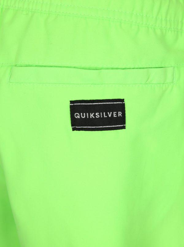 Neonovozelené pánske plavky Quiksilver