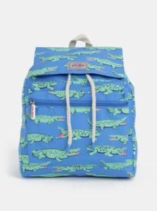 Zeleno-modrý chlapčenský batoh s potlačou krokodílov Cath Kidston