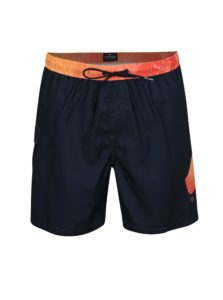 Oranžovo-modré pánske plavky s potlačou Quiksilver