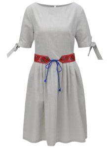 1e8678821bf2 Svetlosivé ľanové šaty Bohemian Tailors Fermina