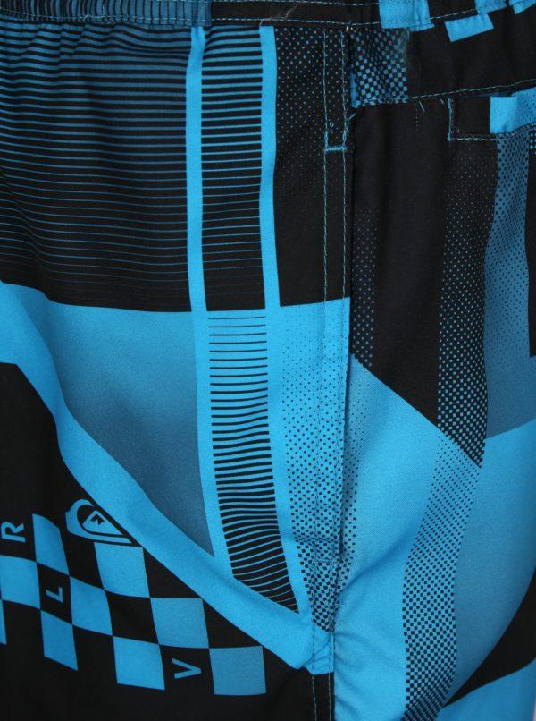 Čierno-modré pánske vzorované plavky Quiksilver