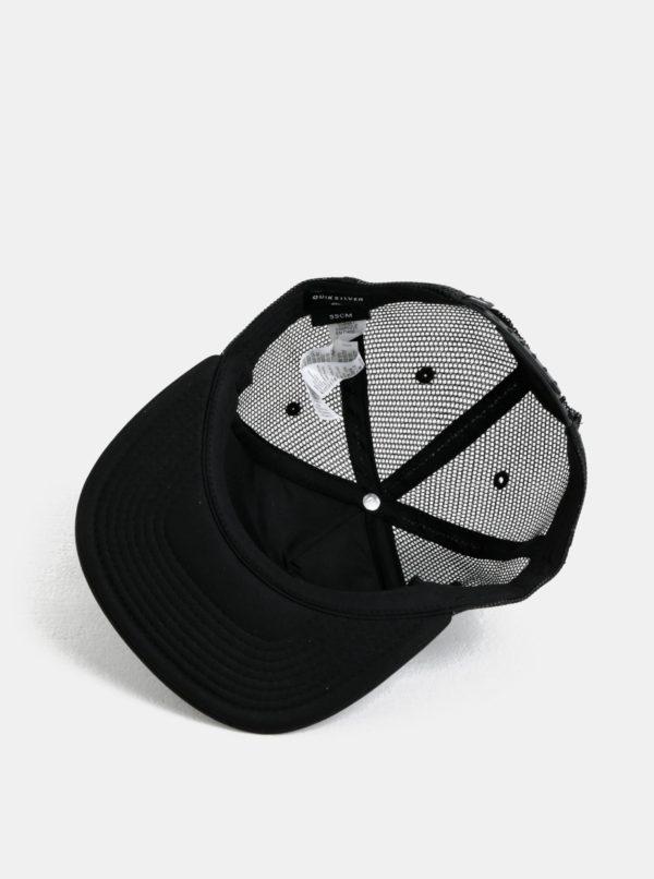 Čierno-sivá chlapčenská šiltovka s potlačou Quiksilver
