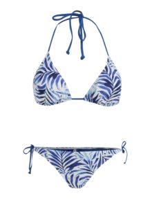 Bielo–modré dámske vzorované dvojdielne plavky Rip Curl