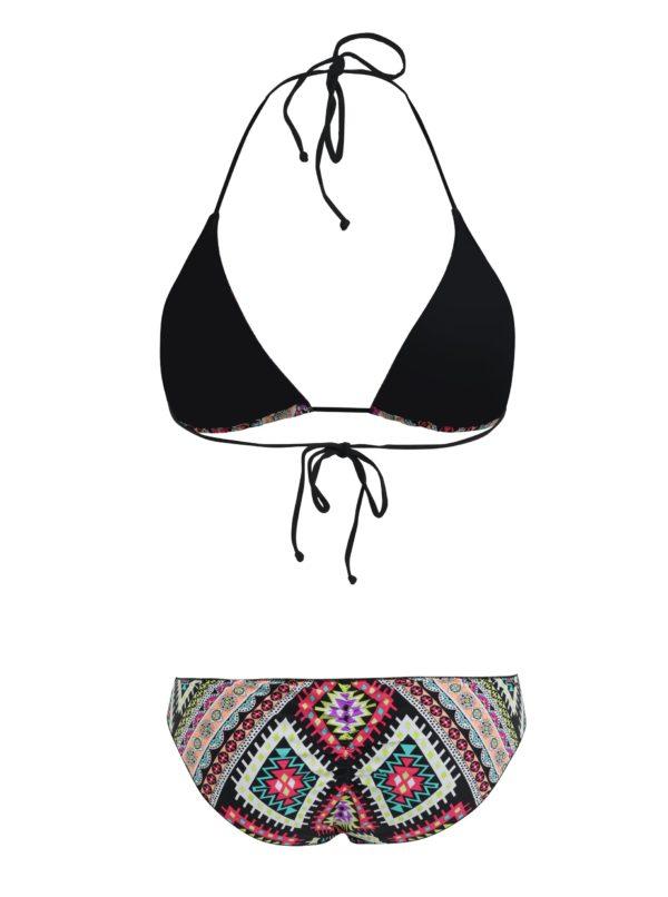 Čierne dámske vzorované dvojdielne plavky Rip Curl