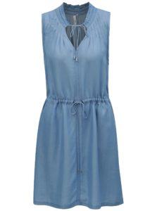 Svetlomodré šaty so zaväzovaním v páse QS by s.Oliver