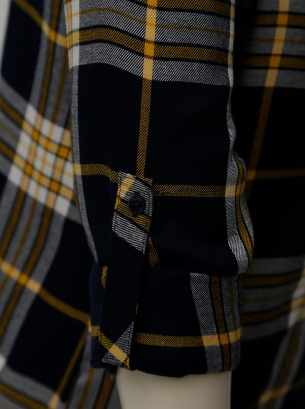 Žlto-modrá kockovaná košeľa TALLY WEiJL