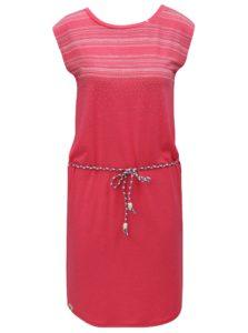 Ružové šaty so vzorom Ragwear Valencia