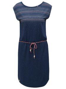 Tmavomodré šaty so vzorom Ragwear Valencia