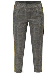 Sivé kárované nohavice so žltým pruhom TALLY WEiJL