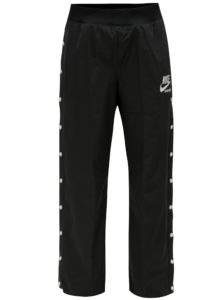 Čierne dámske nohavice s patentkami na nohaviciach Nike pant