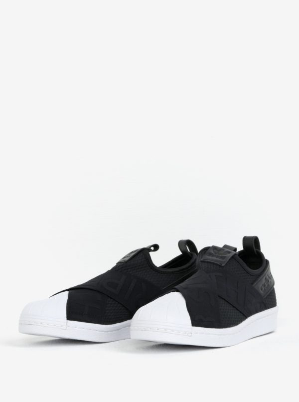 1fb55724d67c5 Ružovo-čierne dámske semišové tenisky na platforme adidas Originals  Superstar