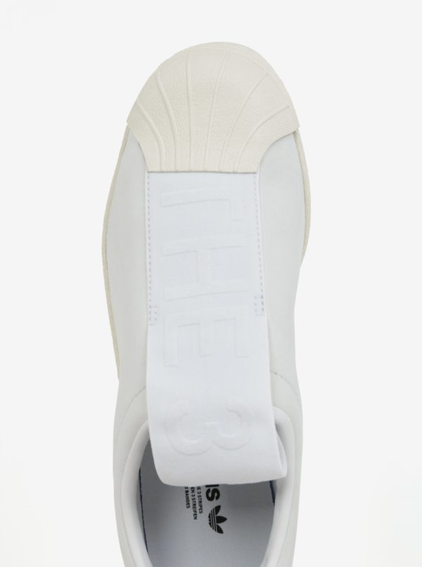 Biele dámske kožené slip on adidas Originals Tubular Superstar  27ee028317f