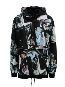 Bielo–čierna dámska vzorovaná bunda Nike