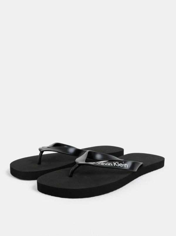 Čierne pánske žabky Calvin Klein Underwear