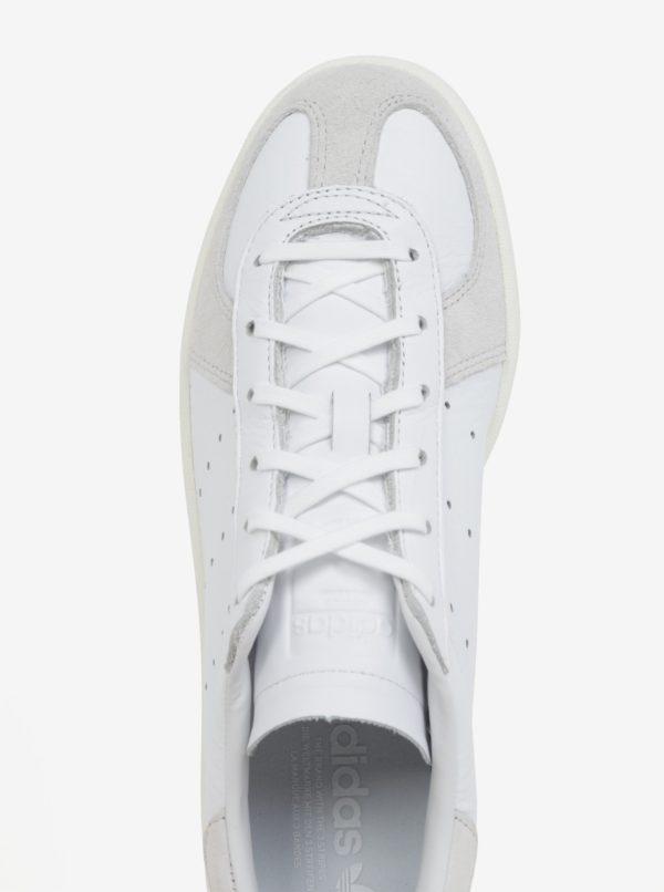 Biele pánske kožené tenisky adidas Originals Avenue  3726fd2570e